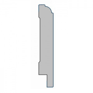MDF plint met folie - K18x100x2500mm