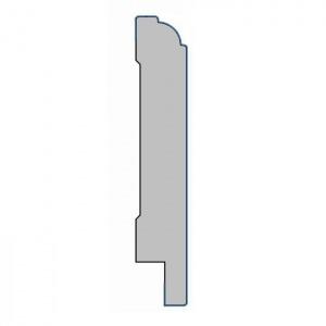 MDF plint met folie - K18x80x2500mm