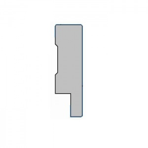 MDF plint met folie - R18x60x2500mm