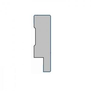 MDF plint kant en klaar - Hoogglans wit 90x15x2400mm